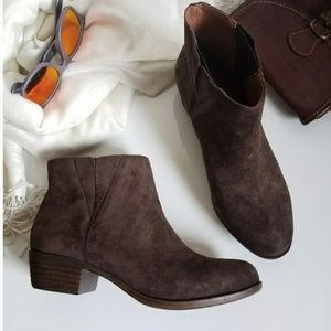 Lucky Brand Benissa Booties Brown Size 9
